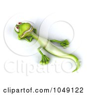 Royalty Free RF Clip Art Illustration Of A 3d Lizard Relaxing On His Back by Julos