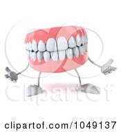 Royalty Free RF Clip Art Illustration Of A 3d Dentures Character by Julos