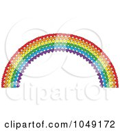 Royalty Free RF Clip Art Illustration Of A Valentine Background Of A Heart Rainbow
