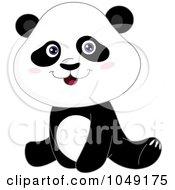 Royalty Free RF Clip Art Illustration Of A Sitting Panda by yayayoyo