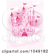 Pink Castle In A Cloudy Pink Sky