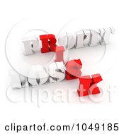 Royalty Free RF Clip Art Illustration Of 3d Red And White Profit Loss And Risk Word Collage