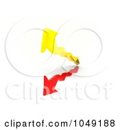 Royalty Free RF Clip Art Illustration Of 3d Red And Yellow Arrows Going Up And Down by MacX