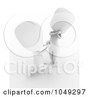 Royalty Free RF Clip Art Illustration Of A 3d Ivory White Man Proposing