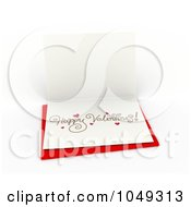 Royalty Free RF Clip Art Illustration Of A 3d Happy Valentines Card On A Red Envelope