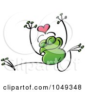 Royalty Free RF Clip Art Illustration Of A Valentine Frog In Love 4 by Zooco