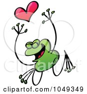 Royalty Free RF Clip Art Illustration Of A Valentine Frog In Love 9