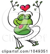 Royalty Free RF Clip Art Illustration Of A Valentine Frog In Love 2