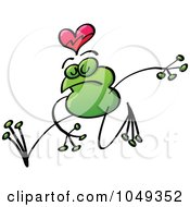 Royalty Free RF Clip Art Illustration Of A Valentine Frog In Love 10