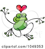 Royalty Free RF Clip Art Illustration Of A Valentine Frog In Love 3
