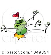 Royalty Free RF Clip Art Illustration Of A Valentine Frog In Love 8