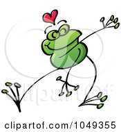 Royalty Free RF Clip Art Illustration Of A Valentine Frog In Love 7