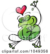 Royalty Free RF Clip Art Illustration Of A Valentine Frog In Love 5