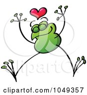 Royalty Free RF Clip Art Illustration Of A Valentine Frog In Love 6