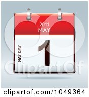 Royalty Free RF Clip Art Illustration Of A 3d May Day May 1 Flip Desk Calendar by michaeltravers