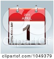 Royalty Free RF Clip Art Illustration Of A 3d April Fools Day Flip Desk Calendar by michaeltravers