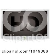 Royalty Free RF Clip Art Illustration Of A 3d HD Television With A White Frame by michaeltravers