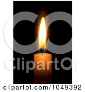 Royalty Free RF Clip Art Illustration Of A Burning Candle On Black 2