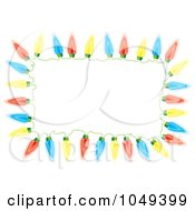 Royalty Free RF Clip Art Illustration Of A Frame Of Colorful Christmas Lights by michaeltravers