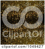 Royalty Free RF Clip Art Illustration Of A Golden Mosaic Burst Background
