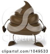 Royalty Free RF Clip Art Illustration Of A 3d Milk Chocolate Or Poop Character by Julos