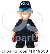 Royalty Free RF Clip Art Illustration Of A 3d Police Man Super Hero