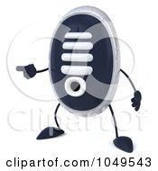 Royalty Free RF Clip Art Illustration Of A 3d Sneaker Shoe Character Pointing Left