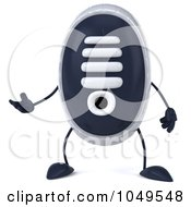 Royalty Free RF Clip Art Illustration Of A 3d Sneaker Shoe Character Facing Front And Gesturing