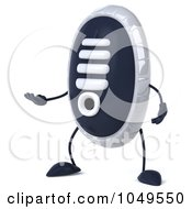 Royalty Free RF Clip Art Illustration Of A 3d Sneaker Shoe Character Facing Left And Gesturing