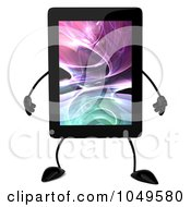 Royalty Free RF Clip Art Illustration Of A 3d Tablet Character by Julos