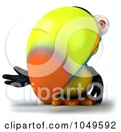 Royalty Free RF Clip Art Illustration Of A 3d Toucan Bird Gesturing