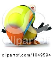 Royalty Free RF Clip Art Illustration Of A 3d Toucan Bird Shrugging