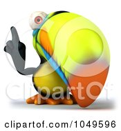 Royalty Free RF Clip Art Illustration Of A 3d Toucan Bird With An Idea