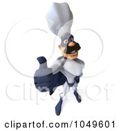 Royalty Free RF Clip Art Illustration Of A 3d Super Hero Chef Holding A Thumb Up