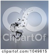 Royalty Free RF Clip Art Illustration Of A 3d Old Dollar Crumbling And Floating Away by Julos