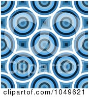 Royalty Free RF Clip Art Illustration Of A Blue Retro Circle Pattern