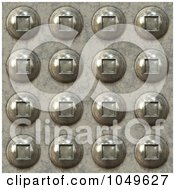 Royalty Free RF Clip Art Illustration Of A Seamless 3d Background Of Rivets by Arena Creative