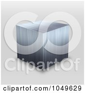 Royalty Free RF Clip Art Illustration Of A 3d Stainless Steel Metallic Cube