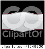 Royalty Free RF Clip Art Illustration Of A Gray Product Label With Halftone And Red On Black