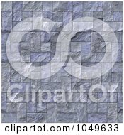 Royalty Free RF Clip Art Illustration Of A Seamless Slate Brick Texture Background by Arena Creative