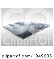 Royalty Free RF Clip Art Illustration Of A 3d Silver Bar Graph by Arena Creative