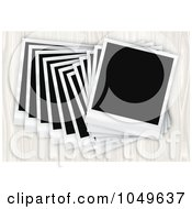 Royalty Free RF Clip Art Illustration Of A Pile Of Instant Film Photos Arranged In A Row