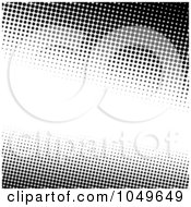 Royalty Free RF Clip Art Illustration Of A Black And White Halftone Background With Copy Space