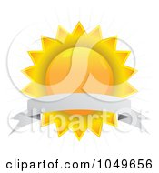 Royalty Free RF Clip Art Illustration Of A Blank Banner Over A Sun Seal by Arena Creative