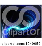 Royalty Free RF Clip Art Illustration Of A Spiraling Blue Fractal