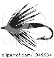 Clip Art Fly Fishing Clip Art royalty free rf fly fishing clipart illustrations vector clip art illustration of a black and white retro hook 3