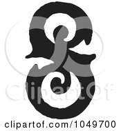 Royalty Free RF Clip Art Illustration Of A Black And White Vintage Digit Number 8 by BestVector