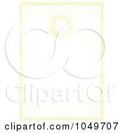 Royalty Free RF Clip Art Illustration Of A Pastel Golden Wedding Invitation Background 4