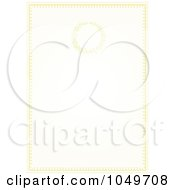 Royalty Free RF Clip Art Illustration Of A Pastel Golden Wedding Invitation Background 2