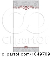 Royalty Free RF Clip Art Illustration Of A Red And Gray Floral Invitation Background 4